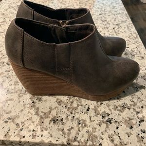 Dr. A Hill's ankle wedge bootie